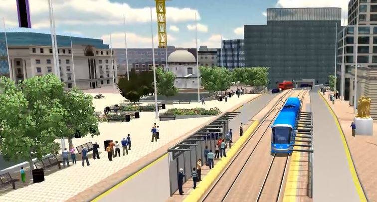 Fly-through video shows how West Midlands Metro's Birmingham city centre extension will look