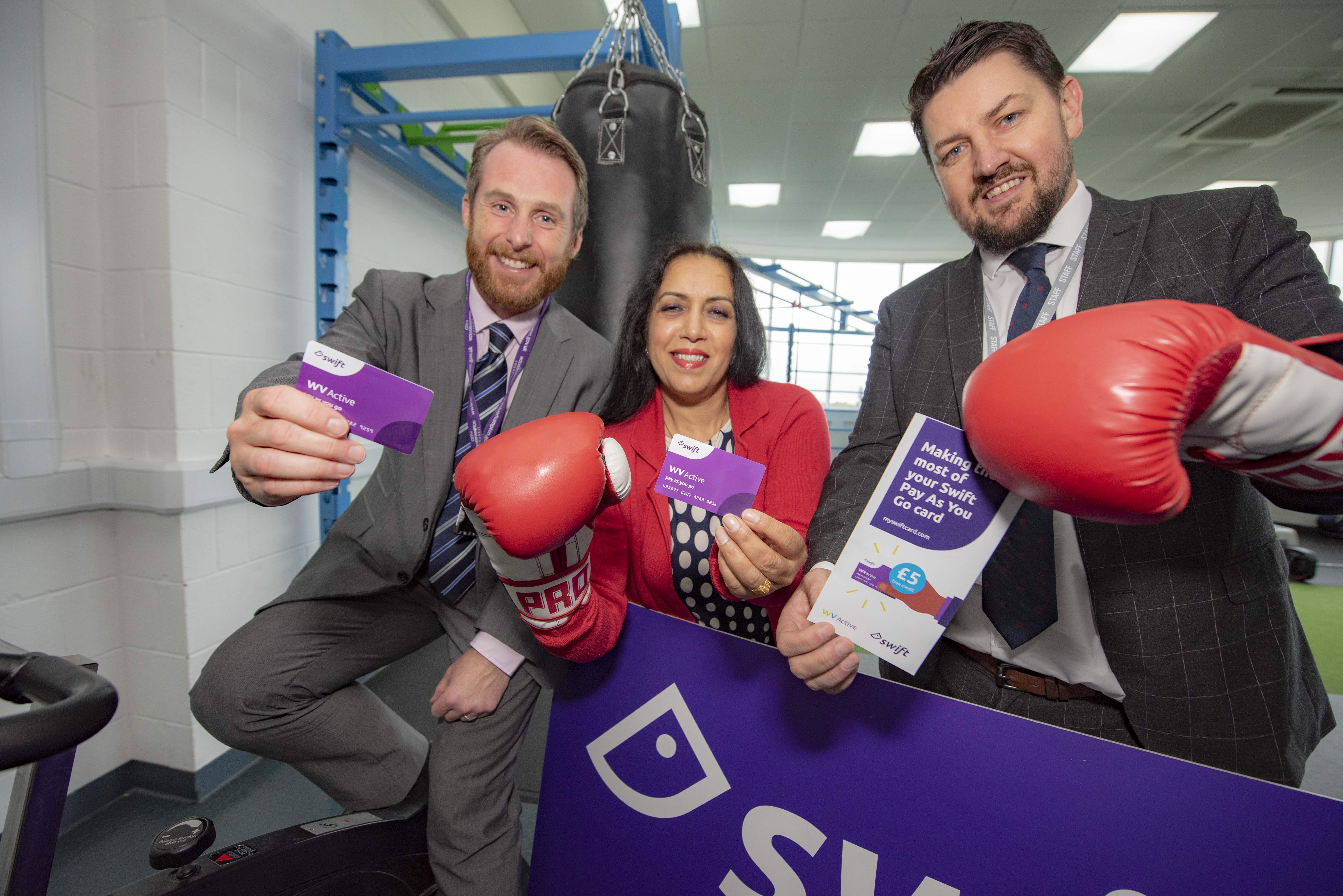 You can now use your Swift travel card to go to the gym in Wolverhampton