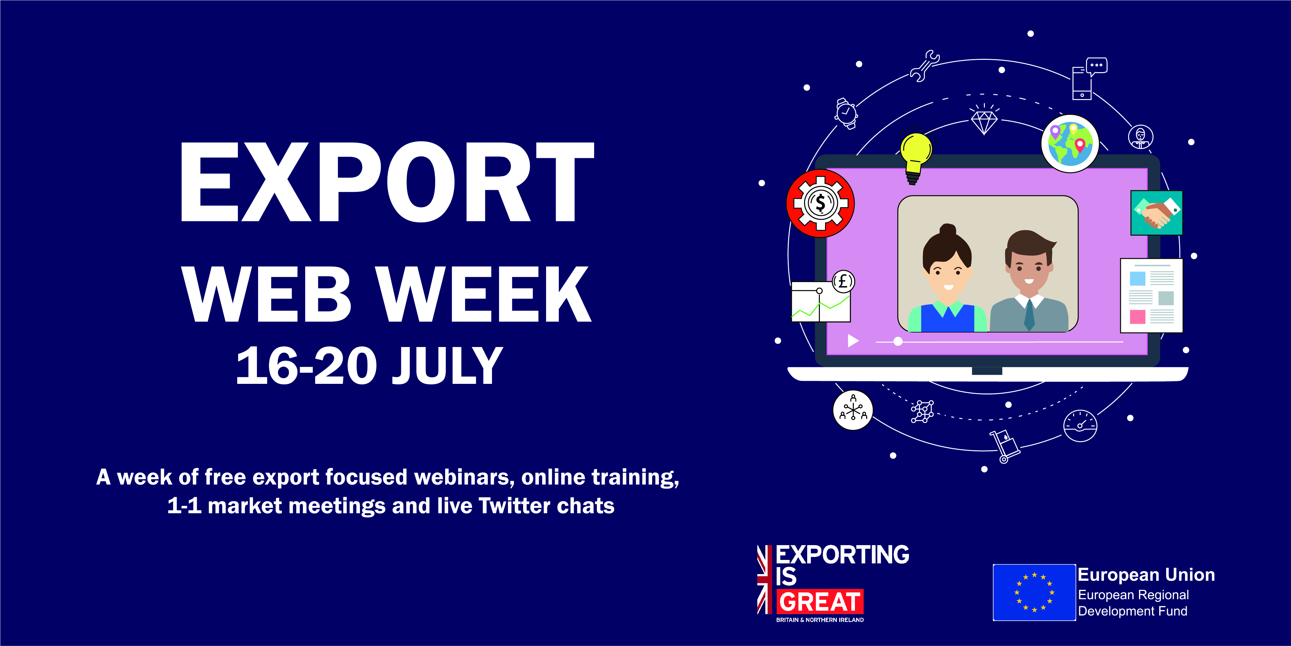 Week of free webinars and online training for aspiring and existing SME exporters