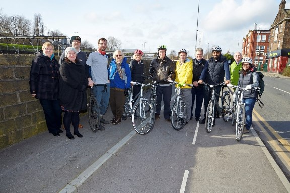 Councillors visit cycle superhighway