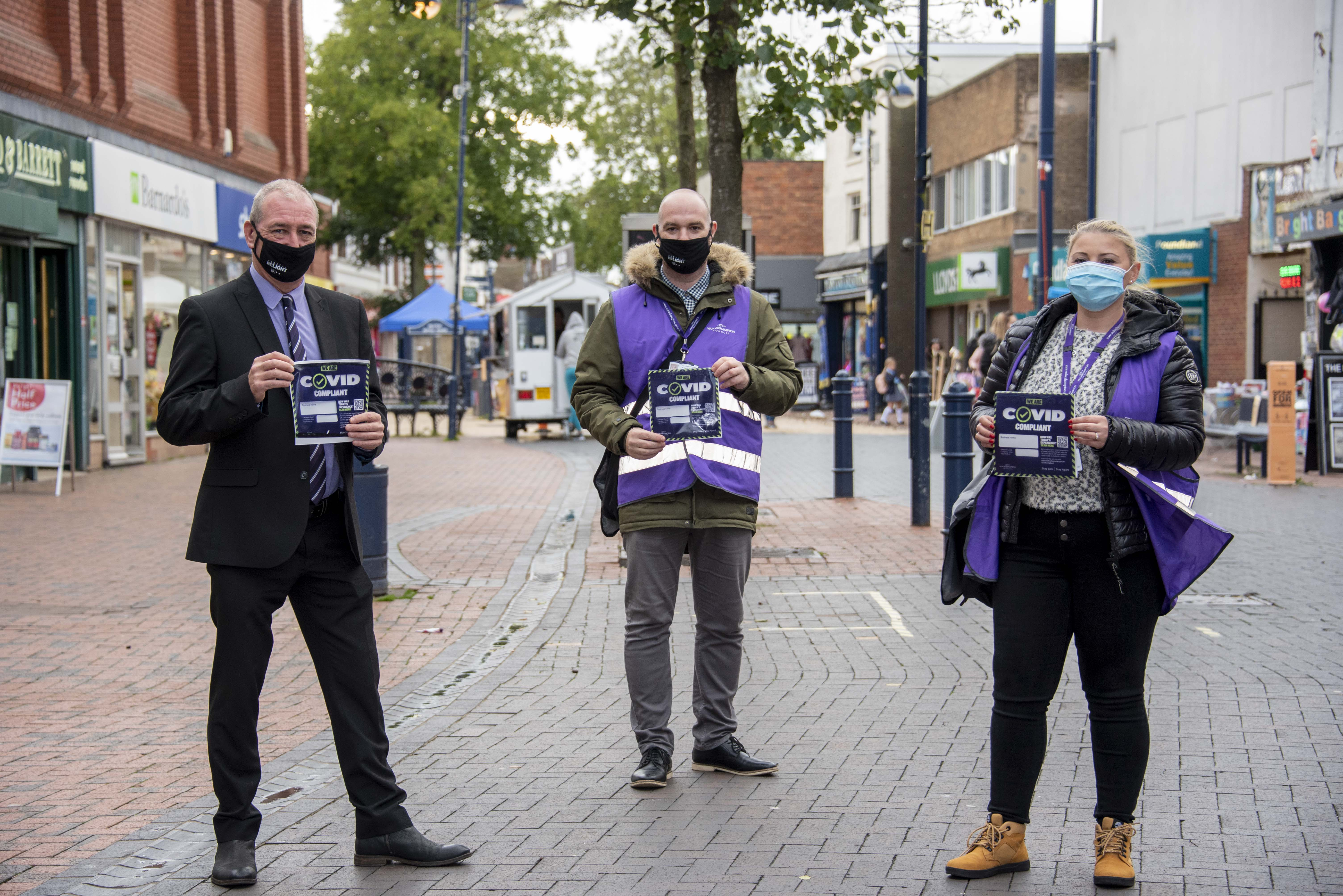Covid Support Advisors Take to the Streets of Wolverhampton