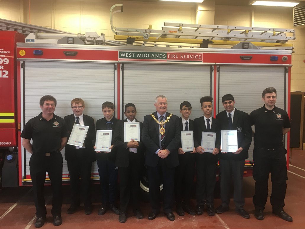 Holly Hall pupils put through their paces  at Burton Road Community Fire Station