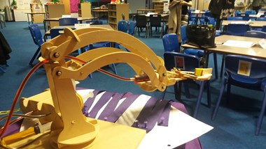 Pupils at Aldersley High School take the Robotic Challenge. The first school event as part of the Black Country LEP Passport to Employment programme