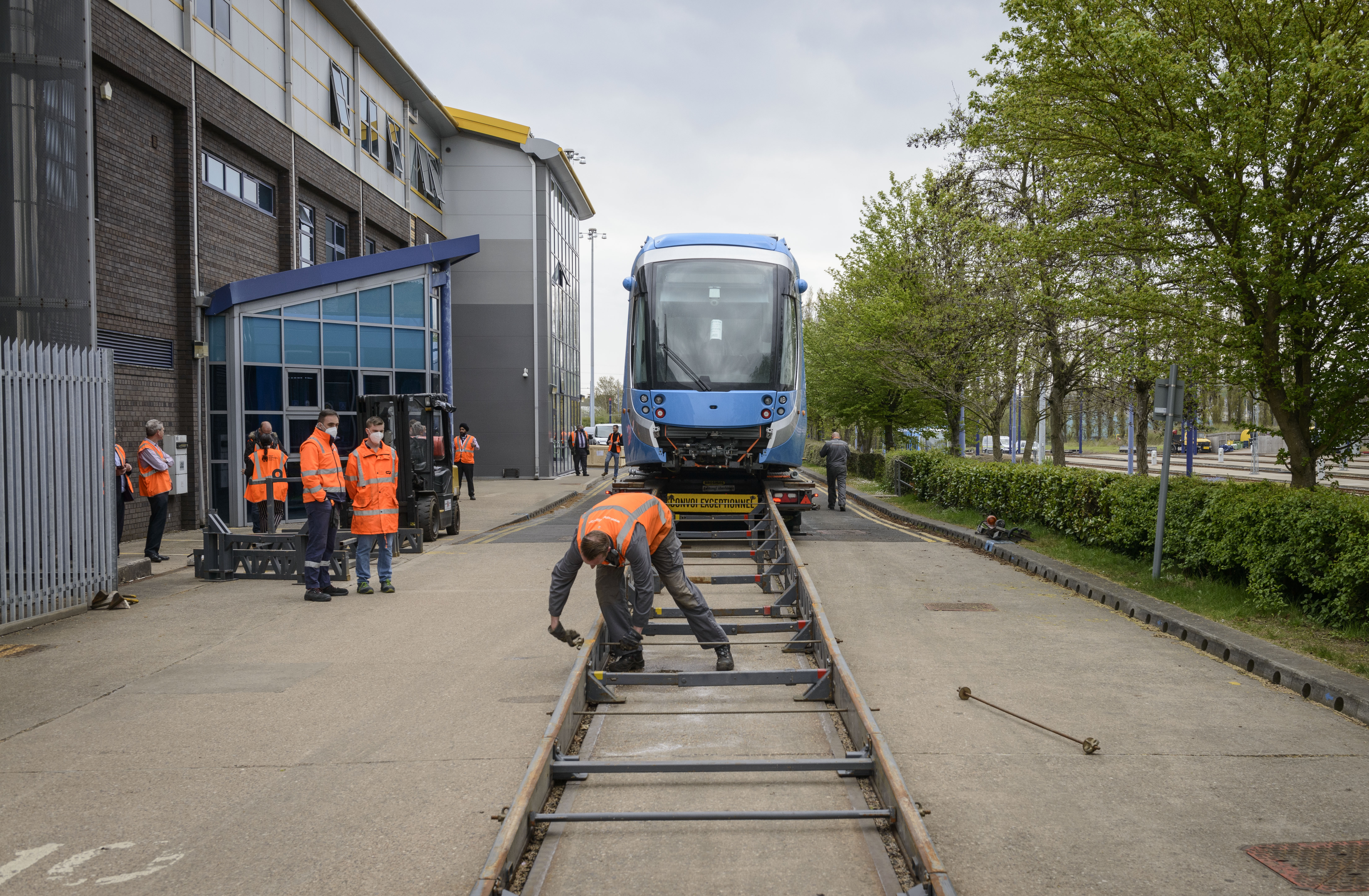 First of eight new trams delivered ready for expansion of West Midlands Metro lines