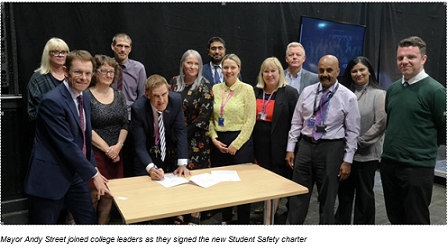 Colleges launch Safer Students Charter to tackle knife crime