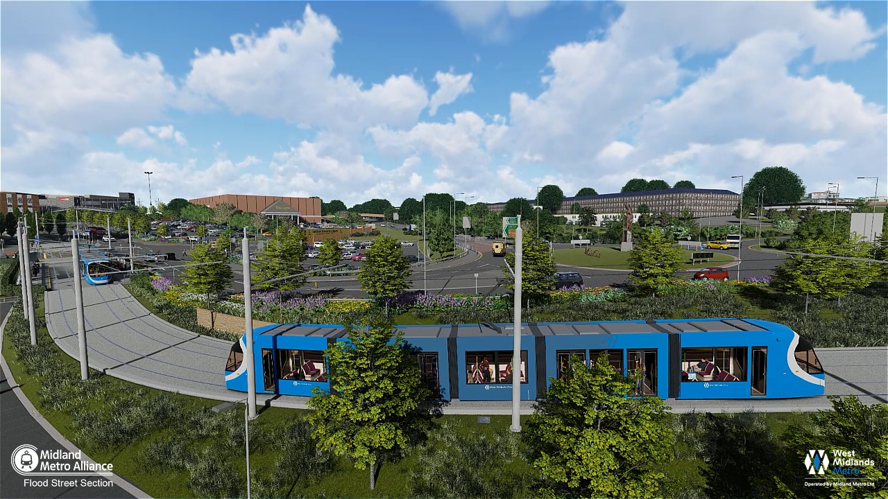 Fly-through footage shows first glimpse of what Metro extension is set to look like in Dudley