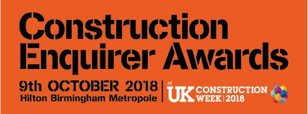 "Vote for BIDsmarter – nominated in ""Best Consultancy initiative"" at Construction Enquirer Awards 2018"