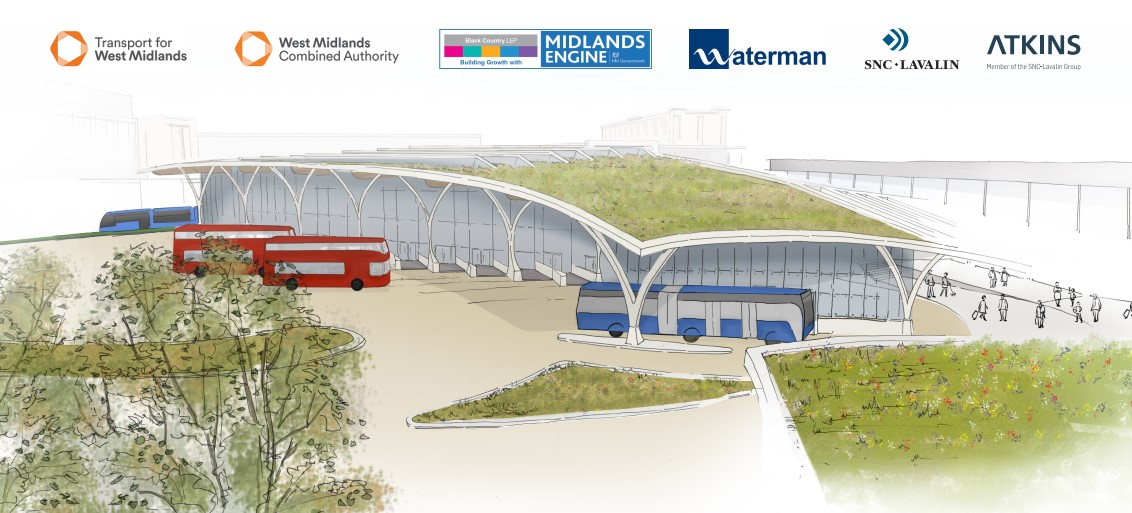 First glimpse of how Dudley's new bus and tram interchange could look