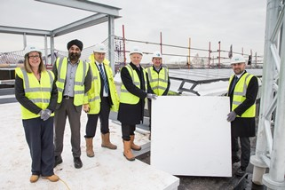 Top marks for new science centre as building hits the heights