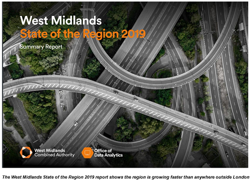 West Midlands growth outpaces rest of the UK, State of the Region report 2019 reveals