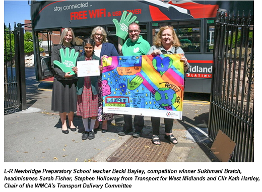 Just the ticket for Wolverhampton school in bus poster competition