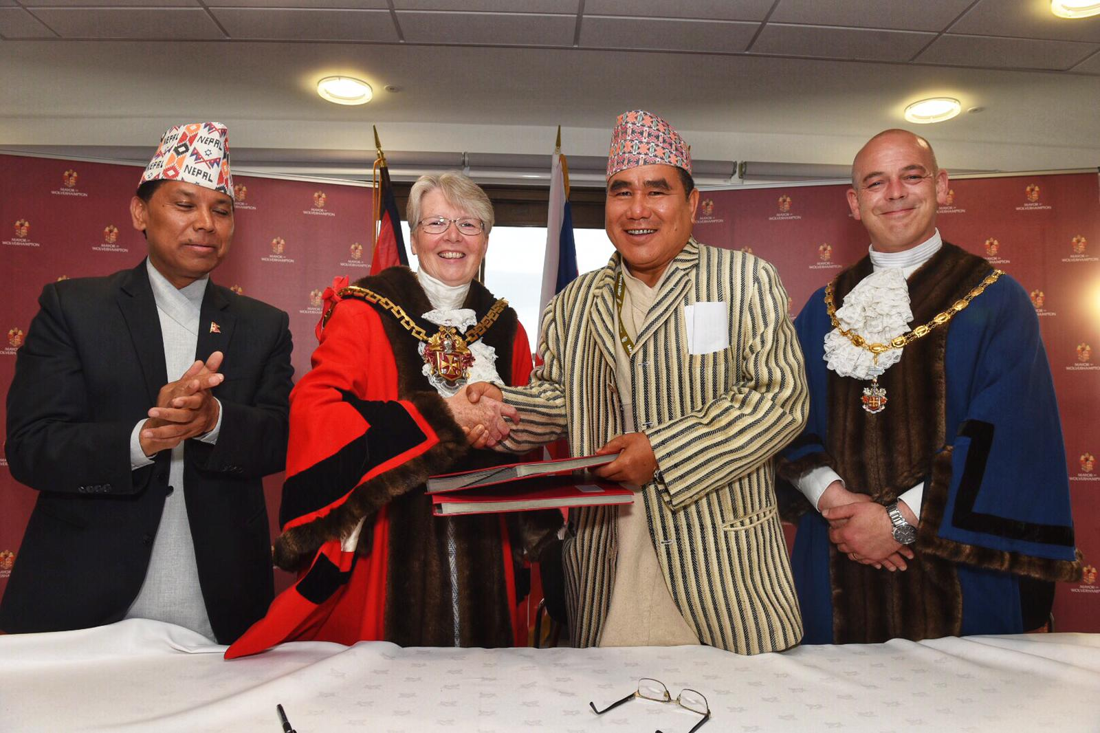 Wolverhampton enters friendship agreement with Nepalese city